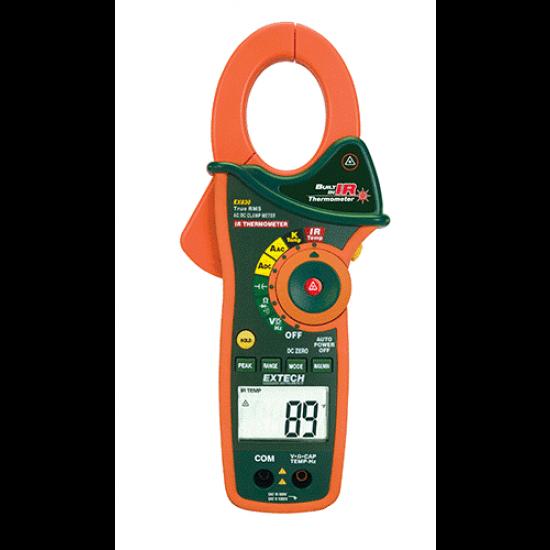Alicate Amperímetro true RMS com termômetro infravermelho